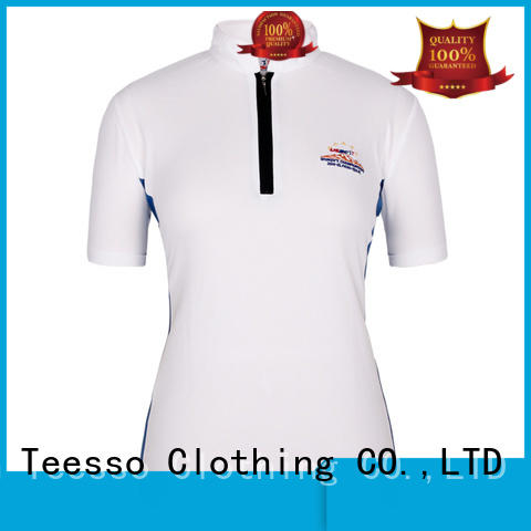 customized womens polo with zipper wholesale