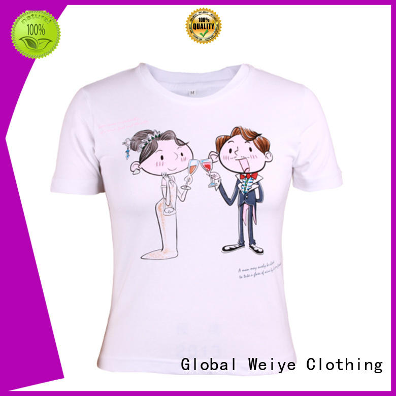 Global Weiye order fitted tee shirts womens branded for promotion