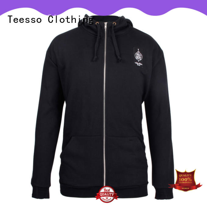 Teesso womens zip up hoodie oem for men