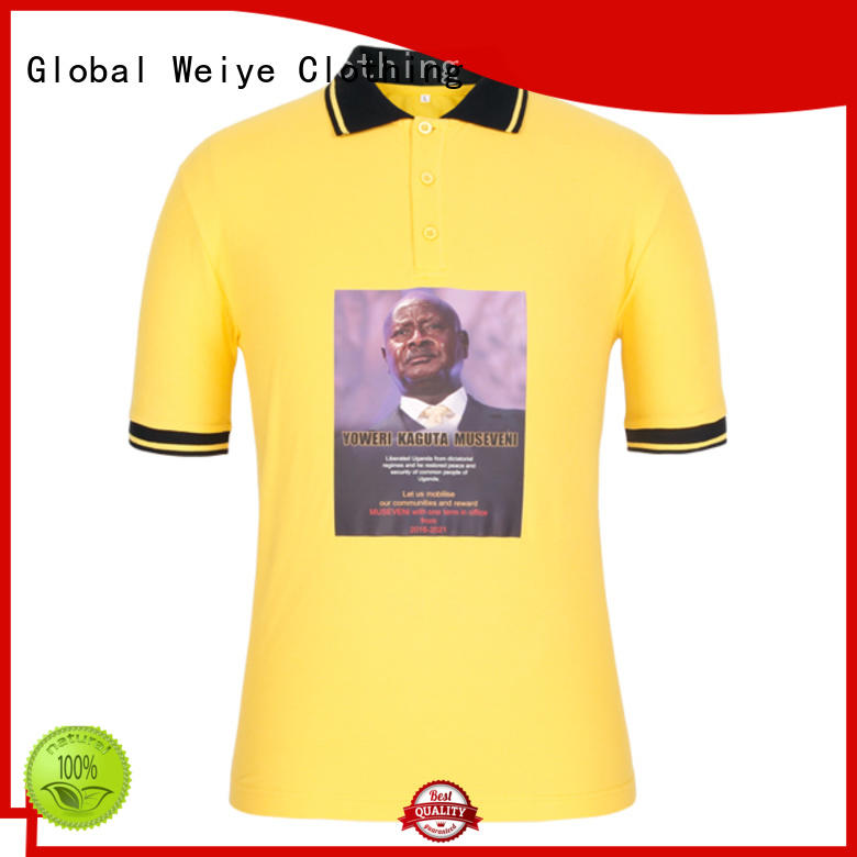 Global Weiye promotional election t shirt design hot sale for men