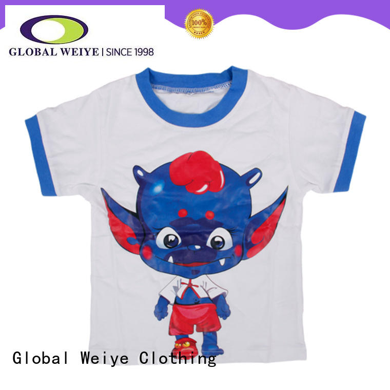 Global Weiye kids shirts contrast for girls