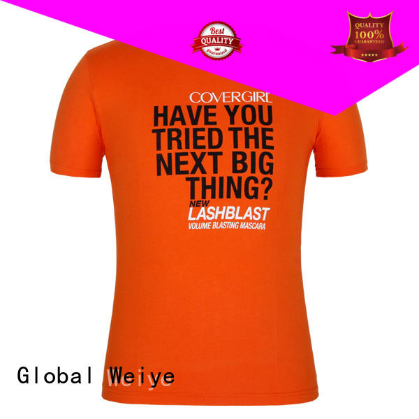 Global Weiye printed order printed t shirts on election campaign for ladies