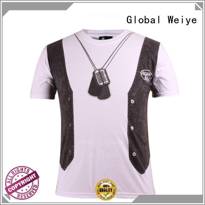 Quality Global Weiye Brand colorful 100 printed shirt design