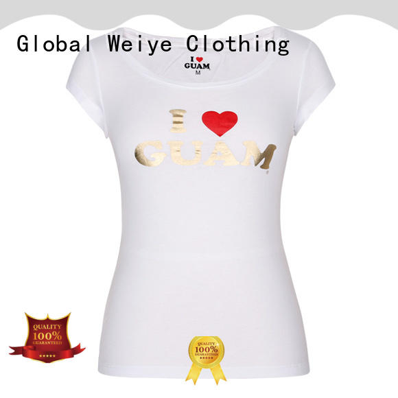Global Weiye women's t shirts online customized for promotion