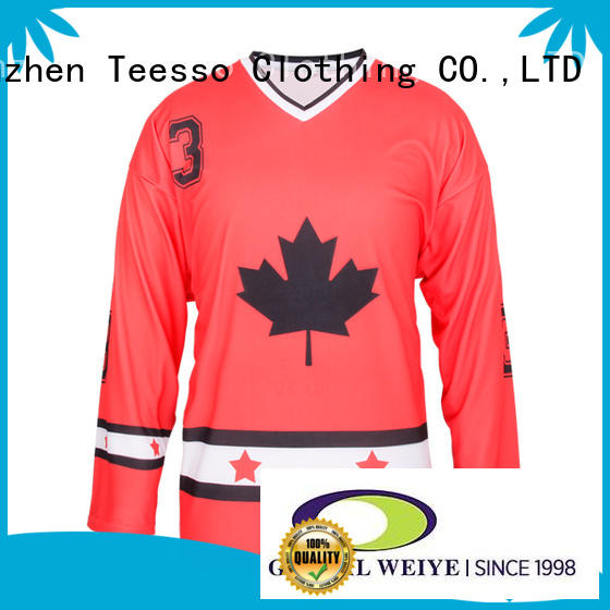 Teesso both sides cheap hockey jerseys color wholesale