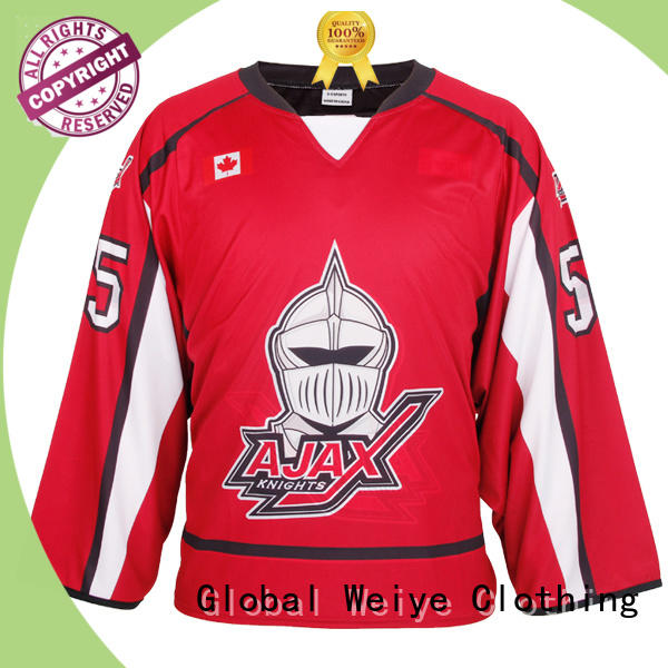 Global Weiye youth youth hockey jerseys cut for women