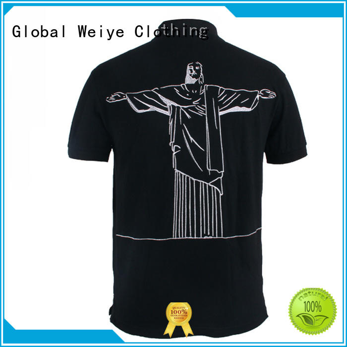 printed customize Global Weiye Brand polo shirts t shirts