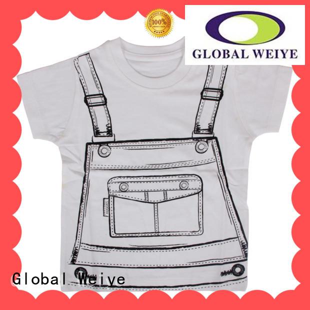 Global Weiye kids t shirt short sleeves for girls