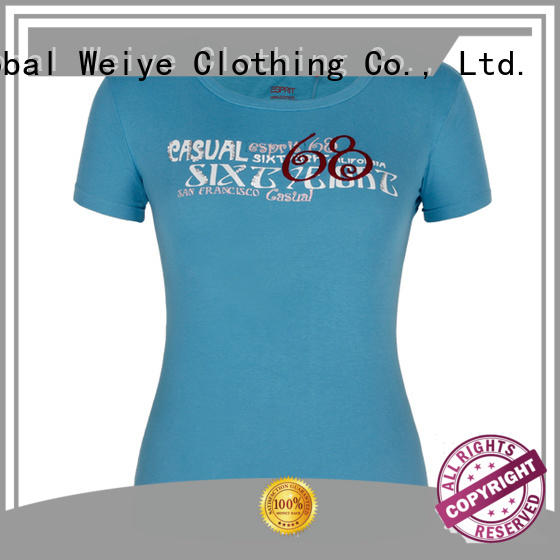 Global Weiye hot sale cotton t shirts for women custom for ladies