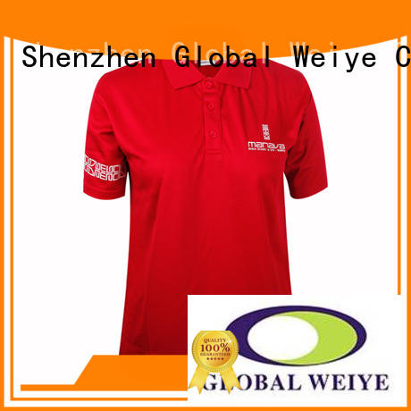 womens collared shirt with printing logo on sleeve