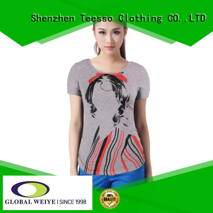 Teesso v neck t shirts women for event