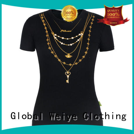 Global Weiye fitted tee shirts womens outdoor for ladies