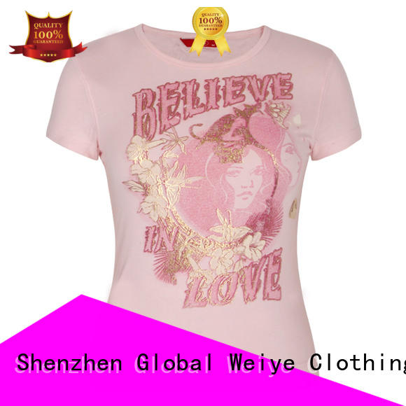 Global Weiye fitted tee shirts womens customized for event