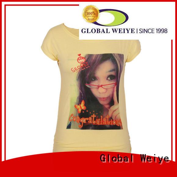 Global Weiye women's t shirts online custom for promotion