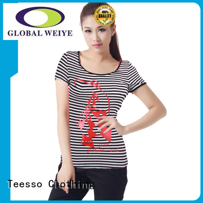 Teesso cotton t shirts for women factory for ladies