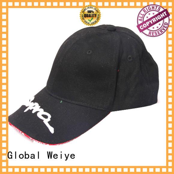 Global Weiye customized nice baseball caps logo for sports