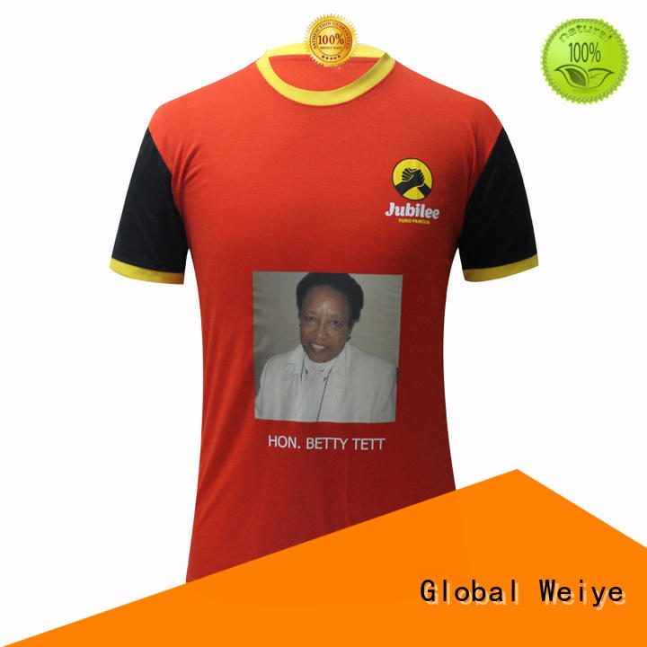 Global Weiye t shirt campaign nguesso for activities