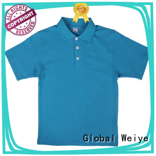 customized sleeve Global Weiye Brand boys polo style shirts factory