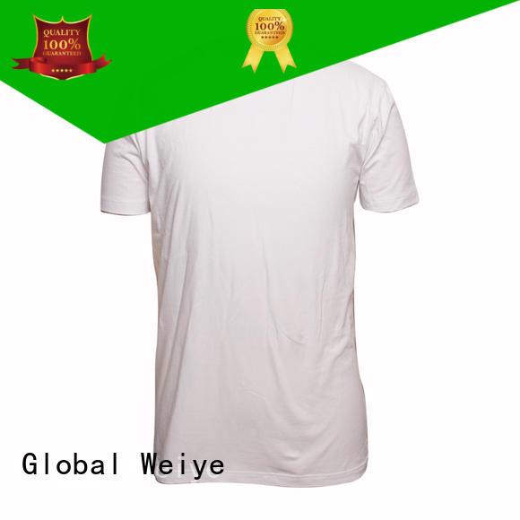 Global Weiye colorful cheap plain tees apparel wholesale