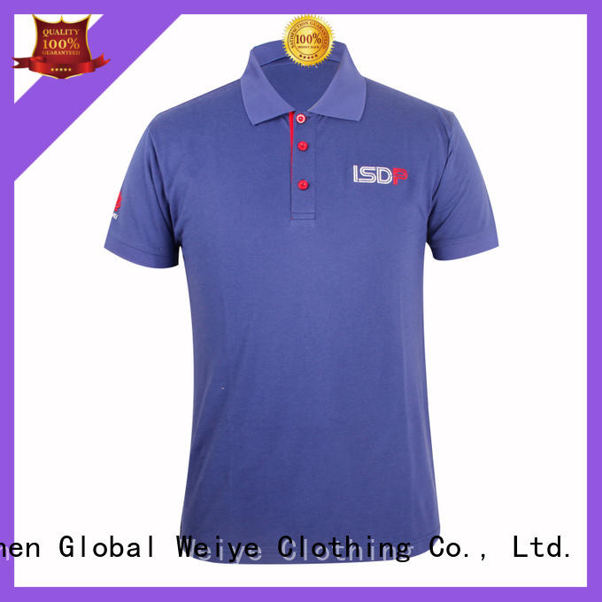 Global Weiye band unique polo shirts hot sale for guys