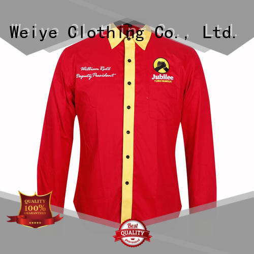 Global Weiye curved company uniform shirts office shirt for men