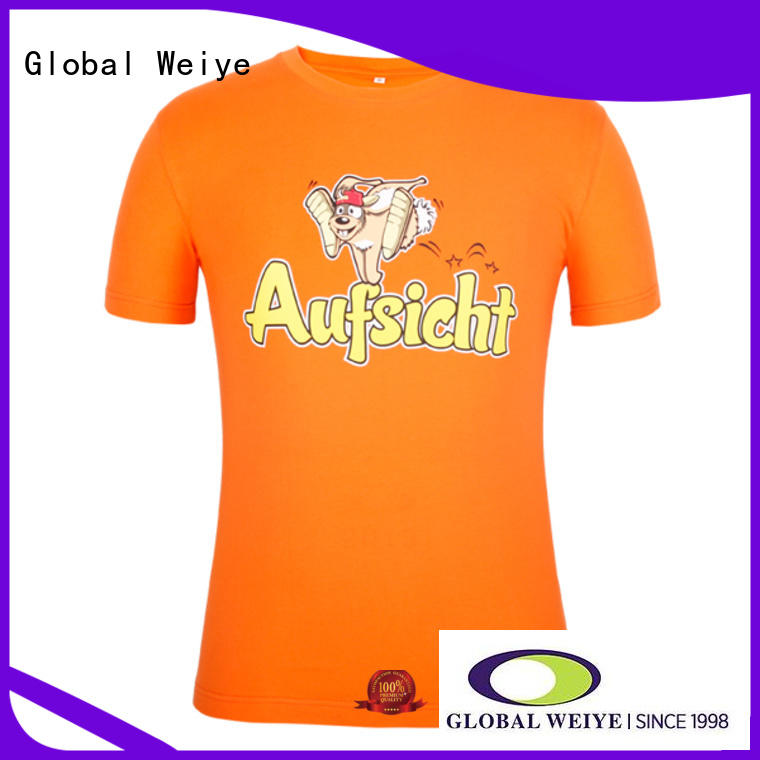 Global Weiye front mens printed t shirts online men wholesalers