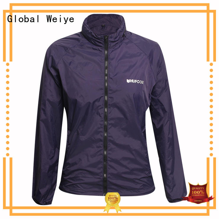 Global Weiye cold ladies spring jackets fabric wholesale