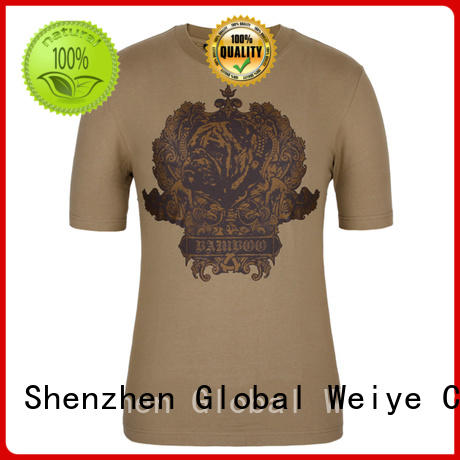 Global Weiye silk mens casual t shirts manufacturer wholesalers