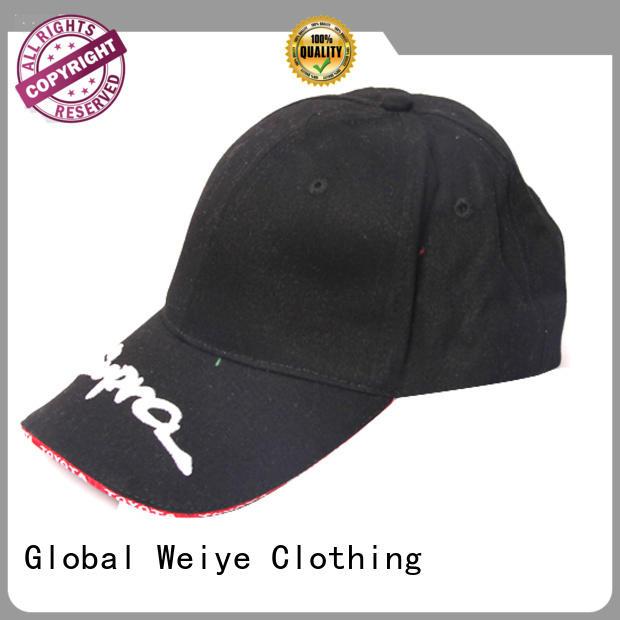 Global Weiye customize sports cap wholesale