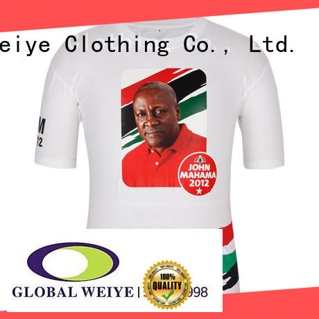 Global Weiye customized vote t shirt yoweri for activities