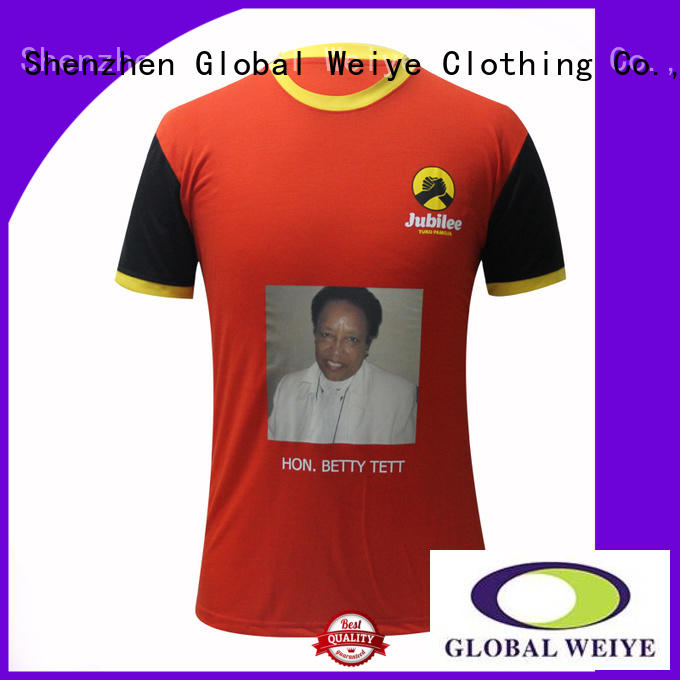 Global Weiye design vote t shirt short for sale