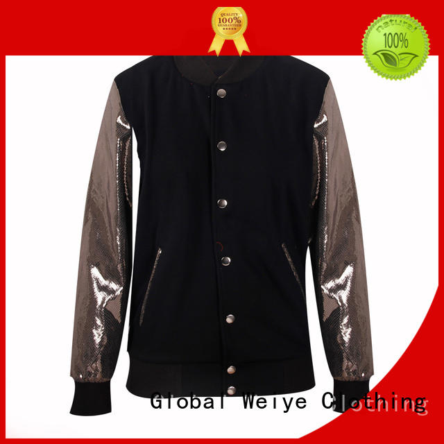 Global Weiye new black vest jacket custom wholesale