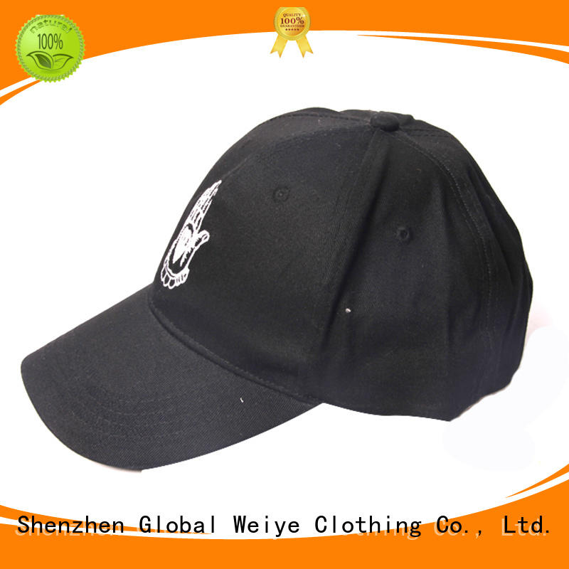 colorful fitted baseball caps embroidered for sports Global Weiye