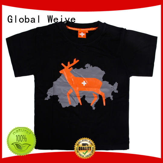 Global Weiye baby cool kids t shirts long round for children