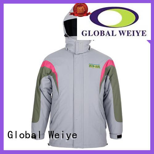 Global Weiye windbreaker mens outerwear jackets coat for women