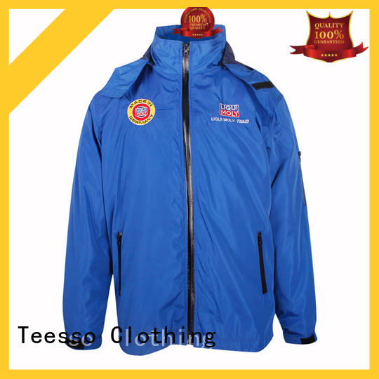 Teesso mens long jacket with hood factory for men