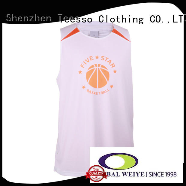 polyester team basketball jerseys sleeveless for sports