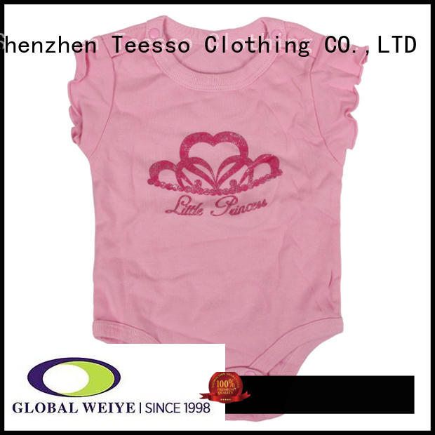 Teesso suit baby girl onesies with envelope neck for girl