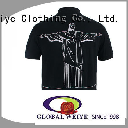 Global Weiye embroidered short sleeve polo sleeve for sale