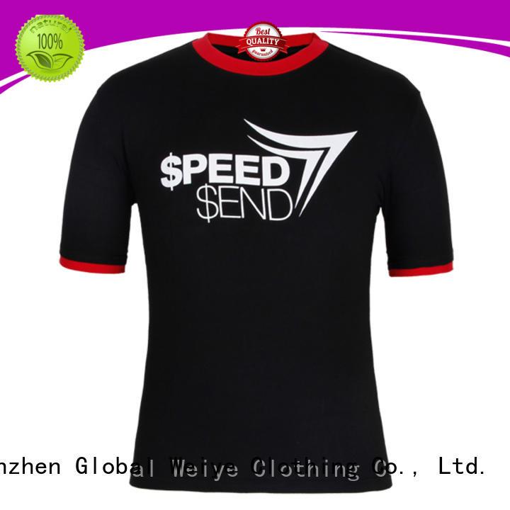 mens oem mens casual tee shirts Global Weiye manufacture