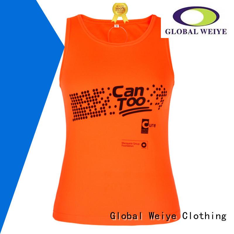 hot sale plain vest tops womens polyester for girls Global Weiye