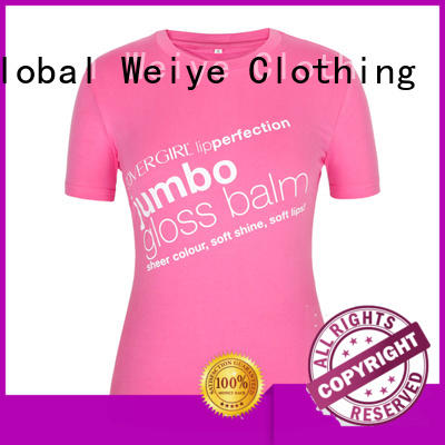 Global Weiye white basic t shirts women's branded for ladies