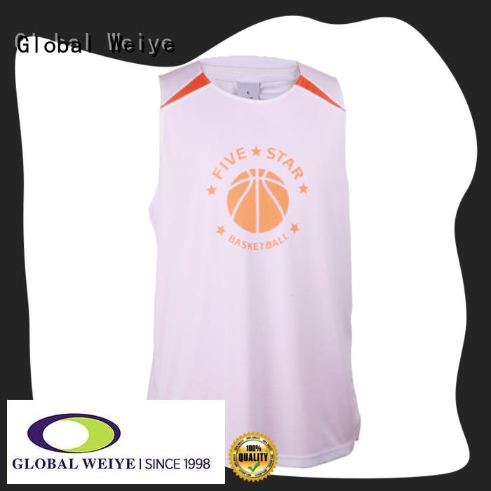 Global Weiye polyester cheap team basketball jerseys designed wholesale