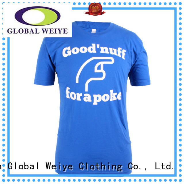 Global Weiye tshirt men shirt t shirt colour  manufactures
