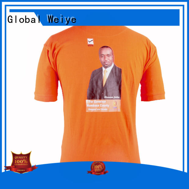 Global Weiye high quality election t shirt for sale yoweri for women