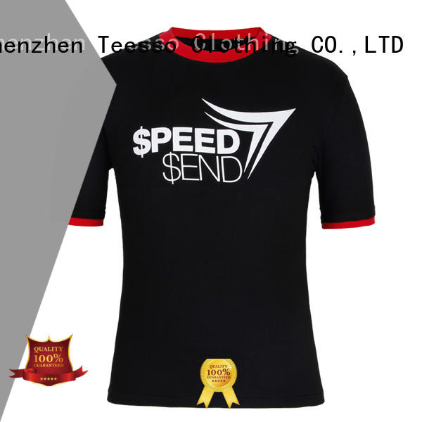 Teesso mens casual t shirts for business for promotion
