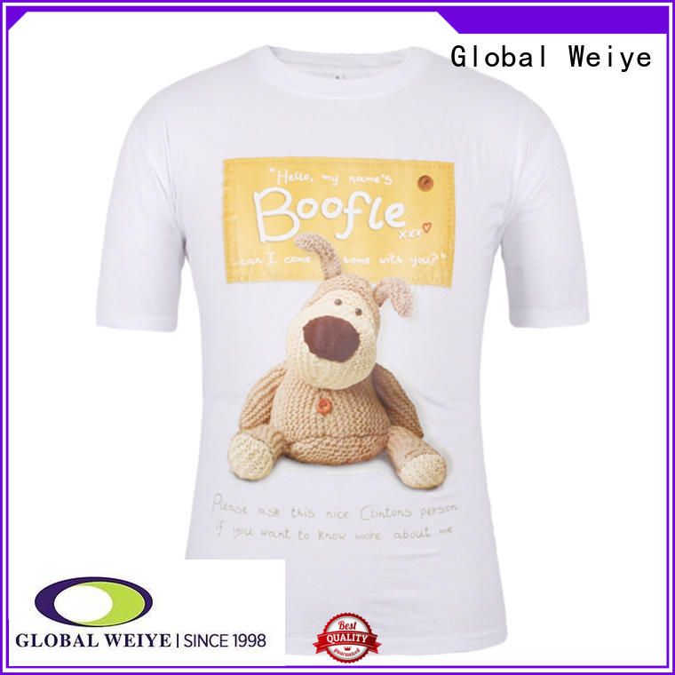 Global Weiye dj tshirts printed design for children