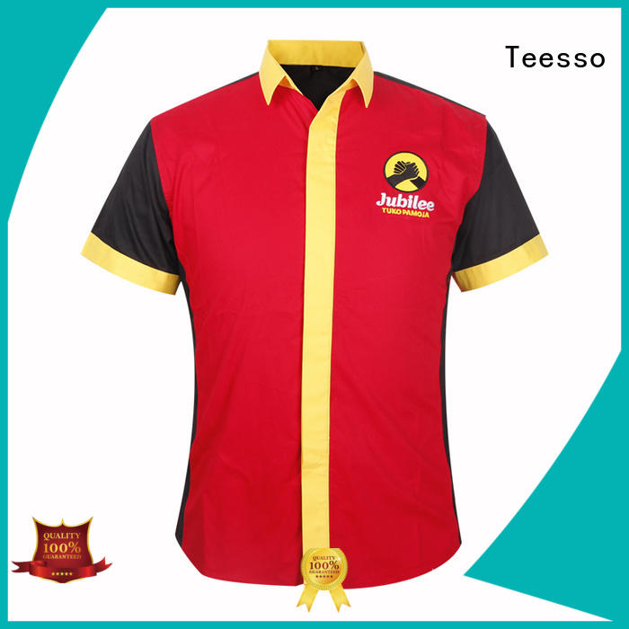 Teesso striped uniform shirt with zipper for sale