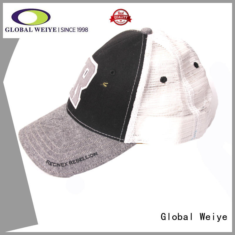 Global Weiye cool fitted baseball caps high quality for men