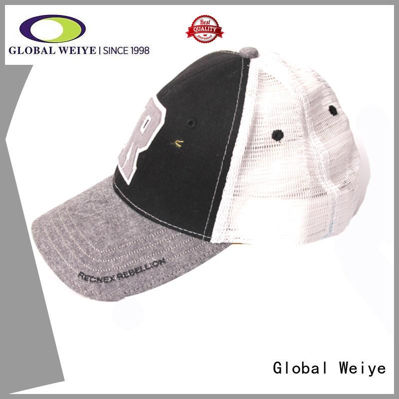 Global Weiye cool fitted baseball caps high quality for men